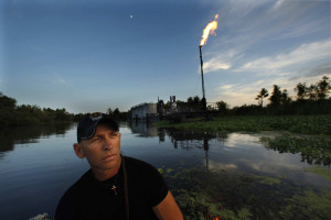 RJ Molinere, 48, pictured July 21, 2010, says he wants the oil industry to stay in Grand Bois, Louisiana; he just doesn't want them to expose of the waste in the proper way. (Carolyn Cole/Los Angeles Times/MCT)