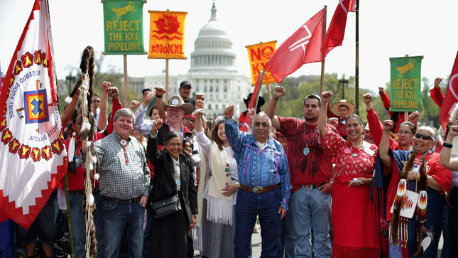 Indigenous Groups Pledge Mass Mobilization to Stop Keystone XL Pipeline and Dakota Access Pipeline