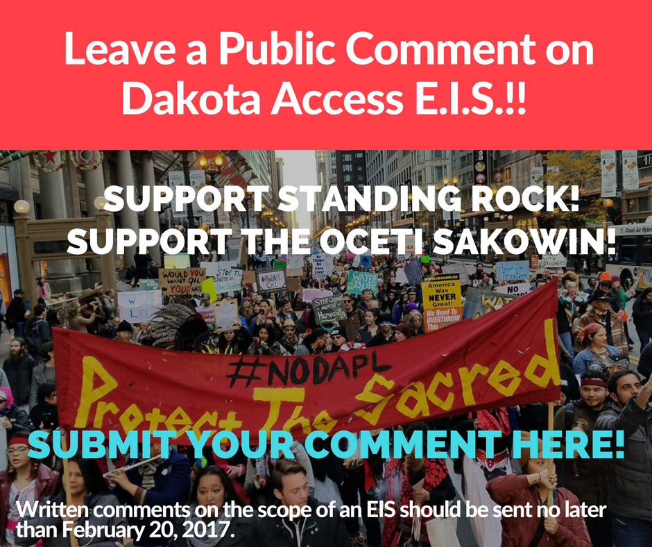 Leave a Public Comment for the DAPL E.I.S.!